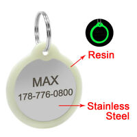 Safety Fluorescent Circle No Noise Custom Dog Tags Silent Dog Tag Disc Engraved