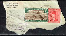 Egypt Aircraft over Pyramids stamp 1944 War Censorship Postmark