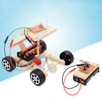 DIY Wireless RC Racing Model Kit Wood Kids Physical Science Experiments Toy