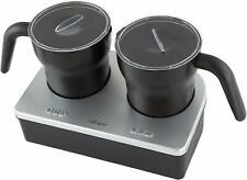 HOSTESS TWIN ELECTRIC MILK FROTHER STEAMER FOAMER WARMER HEATER JUG CUP COFFEE
