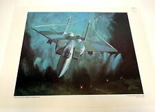 Vintage US Air Force Art Collection E-9 Aircraft Print When Eagle Strikes Carr