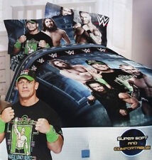 WWE Strength Wrestling Boys Twin Single Comforter & Sheets, 4 Piece Bedding, NEW