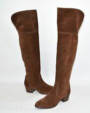 New! Frye 'Clara' Tassel Over the Knee Boot Brown Suede 3475370 Size 5.5