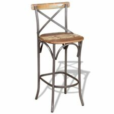 Handmade Bar Chair Wooden Seat Solid Kitchen Wood Chairs Stool Iron Pub Hotel