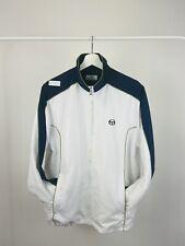 Vintage Men's Sergio Tacchini Small Logo Tracksuit Top Jacket White Medium
