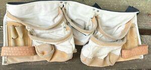 Vintage Husky Suede Leather 5 Pocket Carpenters Tool Belt/ Apron Adjustable