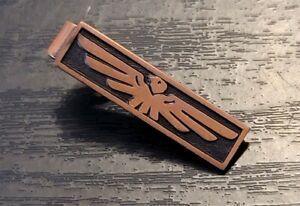Vintage Thunderbird Phoenix Copper color Tie Clip Clasp Bird