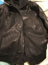 Guess Faux-Leather Mixed Media Bomber