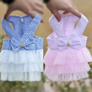 Pet Dog Party Dress Lace Tutu Dress Princess Skirt Clothes Wedding for Yorkie