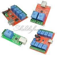 1/2/4/8 Ch 5V 10V USB Relay Programmable Computer Control Relay For Smart Home
