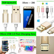 Micro USB Charging Cable FAST! 5V2A Samsung Galaxy S3 S4 S6 S7 HTC Sony LG NOKIA