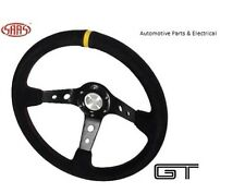 Deep Dish Leather SAAS GT 350mm 14 Inch Steering Wheel ADR Approved