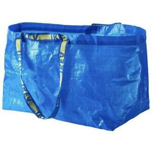 5x IKEA FRAKTA Large Blue Bags Shopping Laundry Beach Storage Garden Baggs
