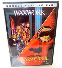 2D DVD WAXWORK & Waxwork II Lost In Time Horror Double Feature Set
