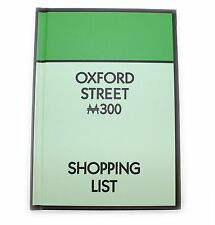 Monopoly A6 Paper Hardback Notebook Oxford Street Official Hasbro Stationery