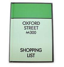 NUOVO Monopoly Oxford Street Hard Back Notebook retrò A6 Regalo Cancelleria Shopping