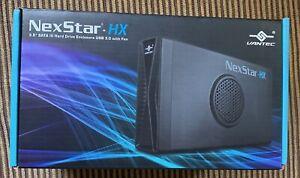 "Vantec NexStar HX USB 3.0 w/ Fan 3.5"" SATA III Hard Drive Enclosure NST-387S3-BK"