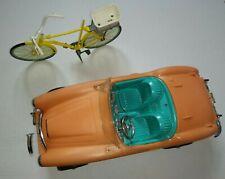 New ListingVintage Barbie 1960's Austin Healey Convertible Sports Car &BarbieBicycle