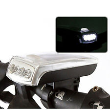 4 LED Solar Power Front Head Light Lamp Riding Bike Bicycle USB 2.0 Rechargeable