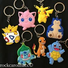 Pokemon KEYCHAIN WHOLESALE BULK x25 - Backpack Charm Key Chain Squirtle Snorlax