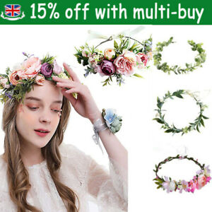 Boho Flower Headband Garland Festival Wedding Crown Hair Band Hair Accessories