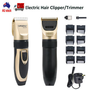 Professional Rechargeable Men Hair Clippers Trimmer Cordless Barber Haircut kit