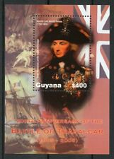 Guyana 2005 MNH Battle of Trafalgar 200th 1v S/S Admiral Lord Nelson Stamps