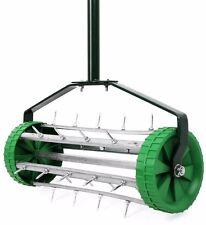 Prato Spike aeratore Giardino Esterni ROLLING erba in acciaio manico in alluminio a Rullo NUOVO