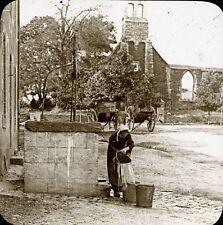 MALESTROIT 1907 - Le Puits - Bretagne Positif Verre 10 x 8 - 72