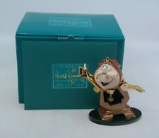 WDCC Beauty and the Beast - JUST IN TIME Cogsworth MIB w/ COA