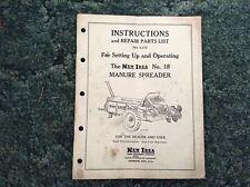 S-175 - Is A New Original Parts Manual For A New Idea No. 18 Manure Spreader
