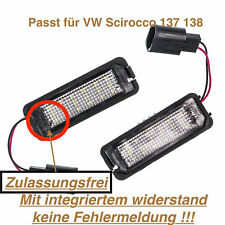 2x TOP LED SMD Kennzeichenbeleuchtung VW Scirocco 137 138 (VWP)