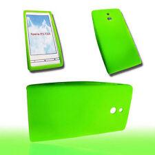 Silikon TPU Handy Cover Case in Grün  für Sony Xperia P + Displayschutzfolie
