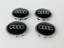 4 Pcs 69mm Black Audi Wheel Center Caps Emblems Rim Caps Hubcaps Badges Logo
