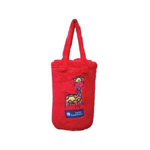 Bambury Snuggle Rug Cot Blanket & Bag - Jeff Giraffe Red