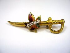Vintage Collectible Pin: Kingston Ontario Canada Sword Design