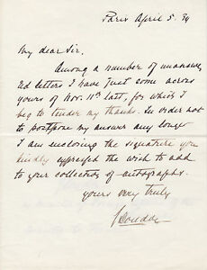 John Loudon, Dutch Minister of Foreign Affairs, signed 1934 letter