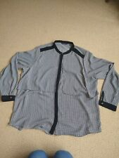 Marks and spencer Size 20 Black And Cream Spotted Blouse PERFECT