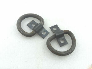 Military Bumper Pulling Hooks Bracket Front & Rear Willys Jeep