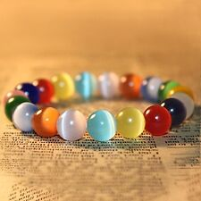 "Korean Fashion Opal Rainbow Crystal Healing Bracelets for women (0.4"")"