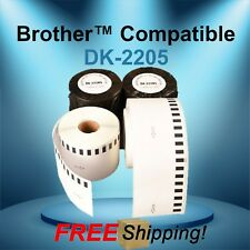 Labels123 Brand Fits Brother Dk 2205 P Touch Ql700 Ql500 Continuous Label Rolls