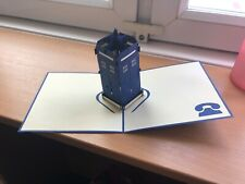 Hand crafted 3D Pop up greetings card Dr Who
