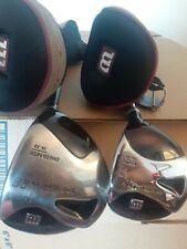 NICE Wilson Golf DEEP RED II DRIVER + 5 WOOD SET Right  REGULAR w/Headcovers.