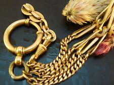 Antike Uhrenkette Schaumgold vergoldet Goldmagnet
