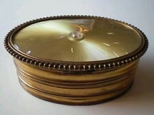 VINTAGE GOLD APOLLO STUDIOS ART SCOTTY DOG JEWELRY TRINKET VANITY POWDER BOX RAR
