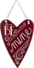 """Primitives by Kathy #23279 heart chalk art sign quote, """"Be Mine"""""""