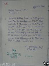 HT066-ORIGINAL AUTOGRAPH ?,WALTER KALETSCH BP GROSSTANKSTELLE CAPPEL