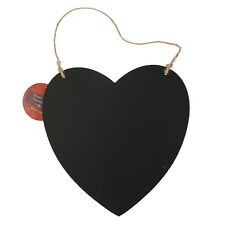 HEART HANGING BLACK CHALK BOARD MESSAGE FUN PLAQUE KITCHEN GIFT HOME NOTE MEMO
