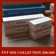 OO Scale Model Rail Cargo Containers TNT Freight Collection Pre/W Card Kits x 6