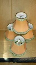 set of 4 vintage push / clip on light shades